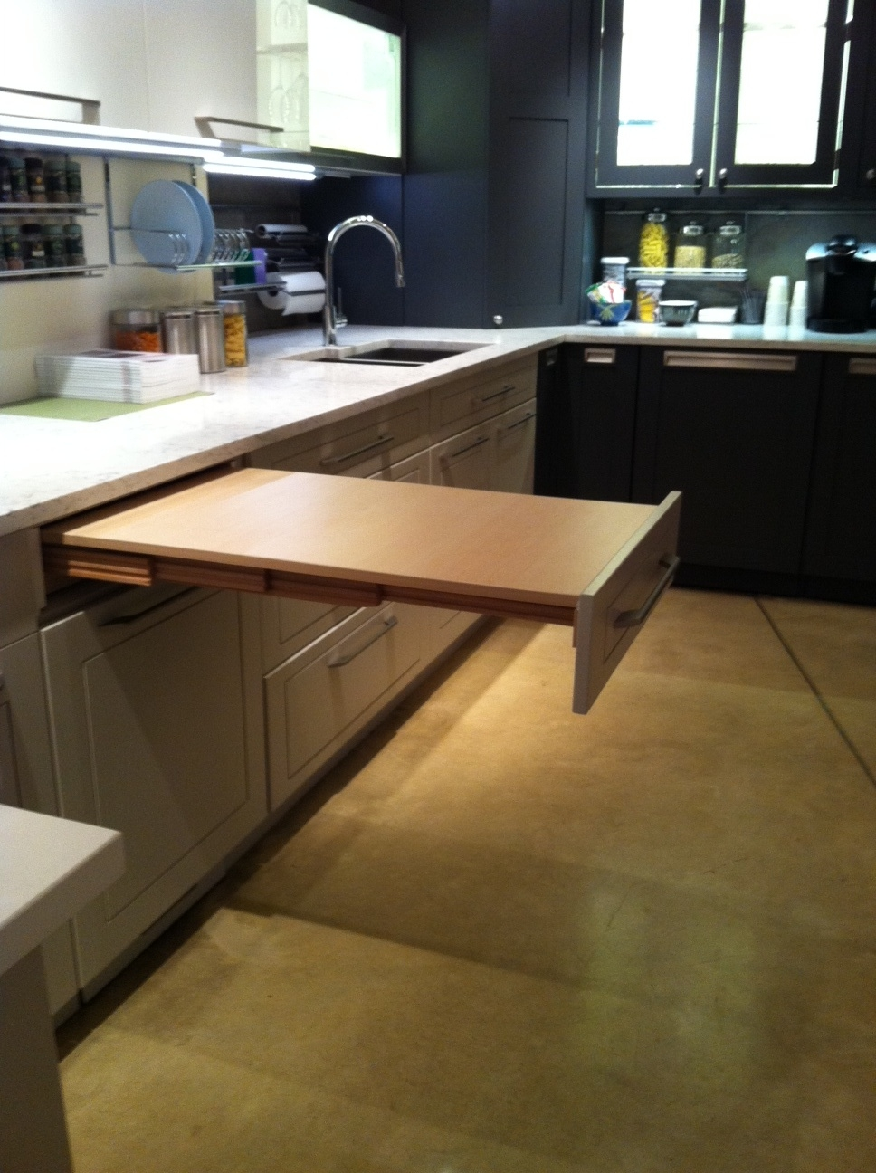 Manitoba Buffet W Pullout Table Details Hoosier Cabinet With Pull